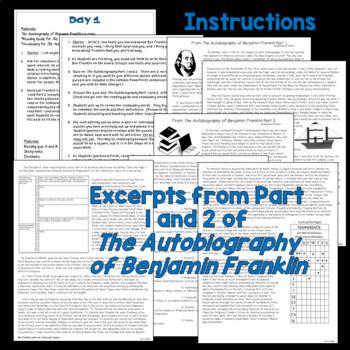 Ben Franklin's Autobiography