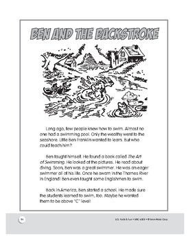 Ben Franklin the Swim Coach: Short Story and Activities for Grades 1–3
