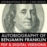 Ben Franklin's Autobiography, Informational Text, Franklin Aphorisms, 13 Virtues