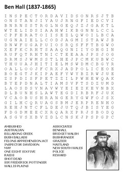 Ben Hall Word Search