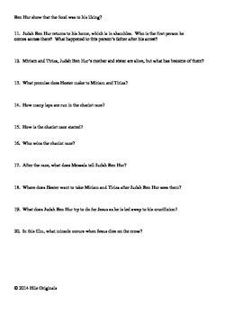 Ben Hur Questions