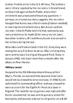 Ben Kuroki Handout