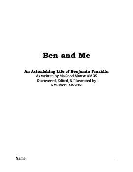 Ben & Me Novel Study Student Packet