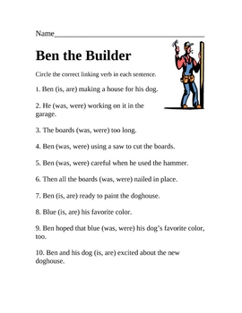 "Ben The Bulider (working with ""be"" verbs)"