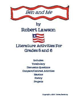 Ben and Me Novel Activities