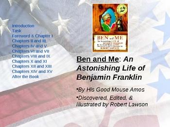 Ben and Me-  Novel Study and Webquest