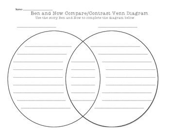 Ben and Now Compare/Contrast Worksheet
