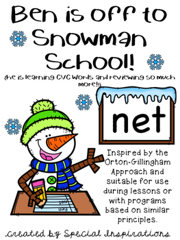Ben is off to Snowman School! Winter Literacy Centers!