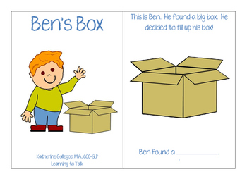 Ben's Box-Interactive/Adapted /B/ Book