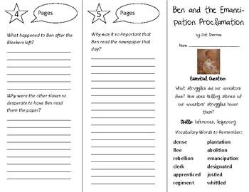 Ben & the Emancipation Proclamation Trifold - Open Court 4th Gr Unit 3 Lesson 2