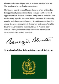 Benazir Bhutto Handout