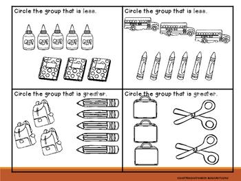Bench Mark Math Journals for Kindergarten- 1st quarter