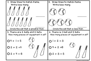 Bench Mark Math Journals for Kindergarten- 2nd Quarter