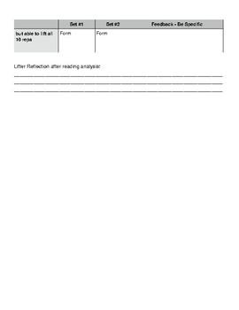 Bench Press Peer Assessment