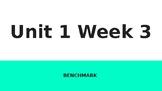 Benchmark 1st Grade Unit 1 Week 3 Slideshow