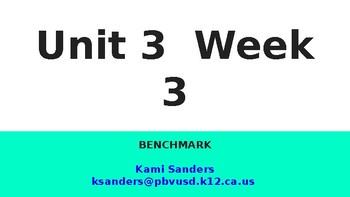 Benchmark 1st Grade Unit 3 Week 3 Slideshow