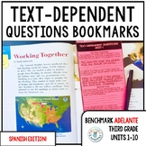 Benchmark ADELANTE Text-Dependent Question Bookmarks 3rd G