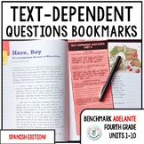 Benchmark ADELANTE Text-Dependent Question Bookmarks 4th G