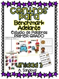 Benchmark Adelante Compatible 1st GRADE Word Work Centers UNIT 3
