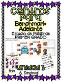 Benchmark Adelante Compatible 1st GRADE Word Work Centers UNIT 3