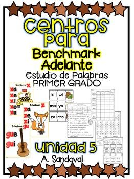 Benchmark Adelante Compatible 1st GRADE Word Work Centers UNIT 5