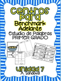 Benchmark Adelante Compatible 1st grade Word Work Centers Unit 7