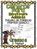 Benchmark Adelante Compatible 1st grade Word Work Centers Unit 6