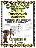 Benchmark Adelante Compatible 1st grade Word Work Centers Unit 6