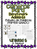 Benchmark Adelante Compatible 1st grade Word Work Centers Unit 8