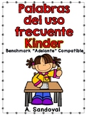 Benchmark Adelante Compatible High Frequency Word Work for Kinder