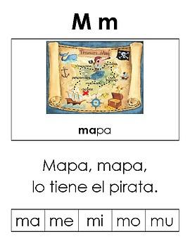 Benchmark Adelante Kindergarten Phonics: Letra Mm con rima y silabas