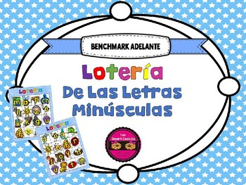 9c. Benchmark Adelante Lotería Lowercase Letters **Spanish**