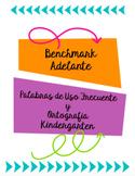 Benchmark Adelante Palabras de Uso Frecuente y Ortografia,