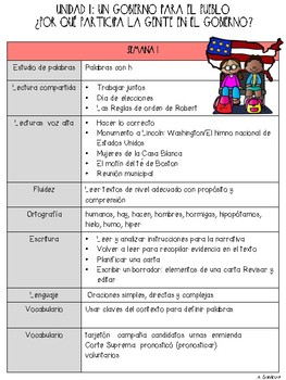 Benchmark Adelante Scope and Sequence for 3rd Grade