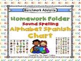 Benchmark Adelante Sound Spelling  Homework Folder & Reference Guide (Spanish)