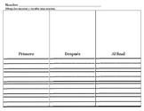 Benchmark Adelante Unidad 4 escritura de secuencia
