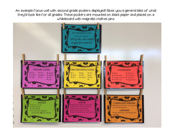 Benchmark Advance 1st (FIRST) Grade Focus Wall Posters UNITS 1-10 BUNDLE!!