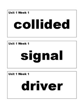 Benchmark Advance 1st (First) Grade Vocabulary Cards-SIMPLE STYLE