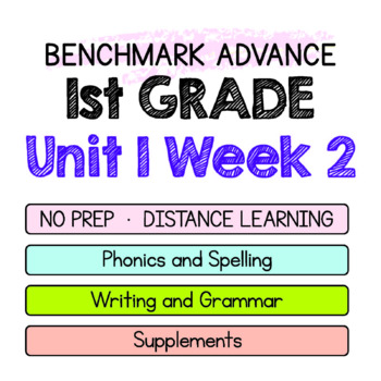 Benchmark Advance - 1st GRADE Unit 1 Week 2 - Maps for Thinking & Activities