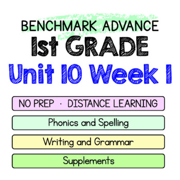 Benchmark Advance - 1st GRADE Unit 10 Week 1 - Maps for Thinking & Activities
