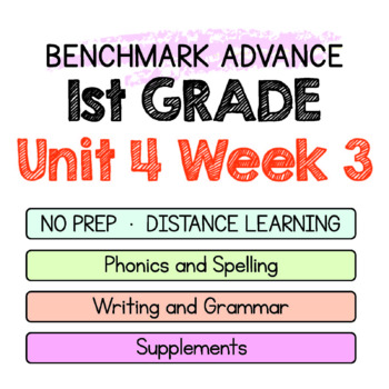 Benchmark Advance - 1st GRADE Unit 4 Week 3- Maps for Thinking & Activities