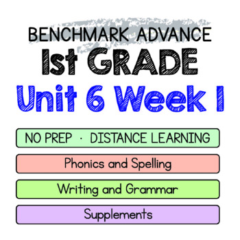 Benchmark Advance - 1st GRADE Unit 6 Week 1 - Maps for Thinking & Activities