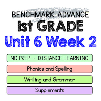 Benchmark Advance - 1st GRADE Unit 6 Week 2 - Maps for Thinking & Activities