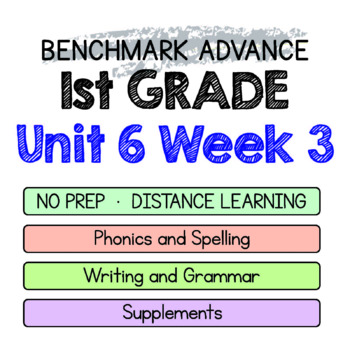 Benchmark Advance - 1st GRADE Unit 6 Week 3 - Maps for Thinking & Activities