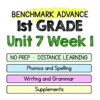 Benchmark Advance - 1st GRADE Unit 7 Week 1 - Maps for Thinking & Activities