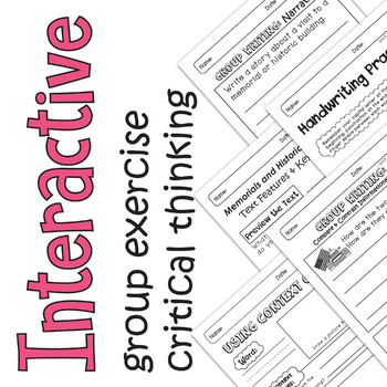 Benchmark Advance - 1st GRADE Unit 7 Week 3- Maps for Thinking & Activities
