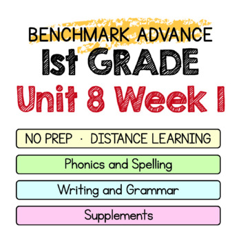 Benchmark Advance - 1st GRADE Unit 8 Week 1- Maps for Thinking & Activities