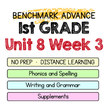 Benchmark Advance - 1st GRADE Unit 8 Week 3- Maps for Thinking & Activities