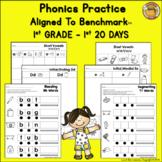 Benchmark Advance© 1st Grade - 1st 20 days Phonics Supplements