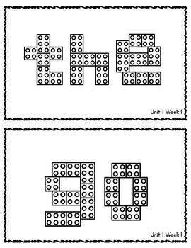Benchmark Advance 1st Grade HFW Building Brick Mats